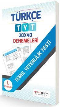 Farklı Sistem Yayınları YKS 1. Oturum TYT Türkçe 20x40 Denemeleri