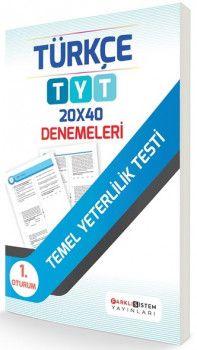 Farklı Sistem Yayınları TYT Türkçe 20 x 40 Denemeleri