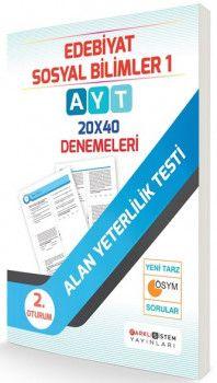 Farklı Sistem Yayınları AYT Edebiyat Sosyal Bilimler 20 x 40 Denemeleri
