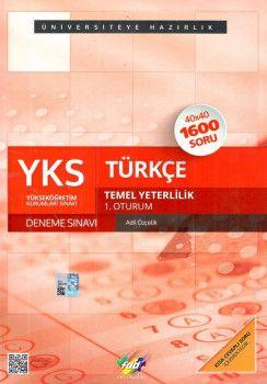 FDD Yayınları YKS 1. Oturum TYT Türkçe 40X40 Deneme 1600 Soru