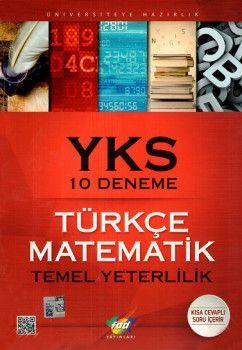 FDD Yayınları YKS 1. Oturum TYT Türkçe Matematik 10 Deneme