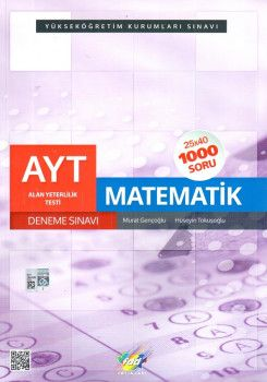 FDD Yayınları YKS 2. Oturum AYT Matematik 25x40 Deneme Sınavı