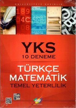 FDD Yayınları YKS Türkçe Matematik 10 Deneme