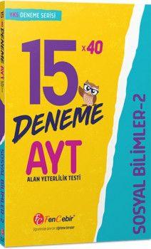 FenCebir Yayınları AYT Sosyal Bilimler 2 15x40 Deneme
