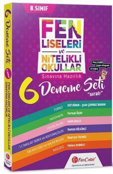 FenCebir Yayınları 8. Sınıf Fen Liseleri ve Nitelikli Okullar Sınavına Hazırlık 6 Sıralı Deneme