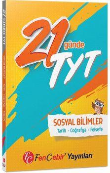 FenCebir Yayınları YKS 1. Oturum TYT 21 Günde Sosyal Bilimler Soru Bankası