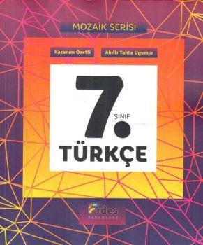 Fides Yayınları 7. Sınıf Türkçe Mozaik Serisi Kazanım Özetli Soru Bankası