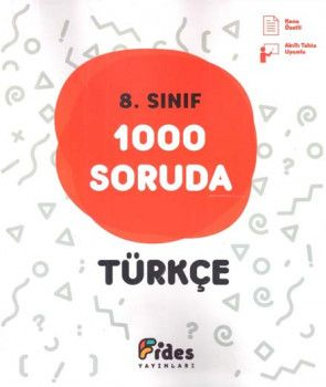 Fides Yayınları 8. Sınıf Türkçe 1000 Soruda Soru Bankası