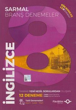 FikriBilim Yayınları 8. Sınıf LGS İngilizce 12 li Sarmal Branş Denemeler