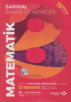 FikriBilim Yayınları 8. Sınıf LGS Matematik 12 li Sarmal Branş Denemeler