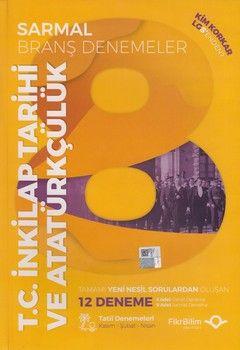 FikriBilim Yayınları 8. Sınıf LGS T.C. İnkılap Tarihi ve Atatürkçülük 12 li Sarmal Branş Denemeler