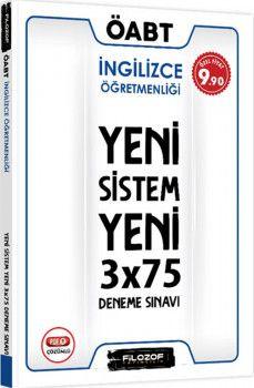 Filozof Yayıncılık ÖABT İngilizce Öğretmenliği Yeni Sistem 3x75 Deneme Sınavı
