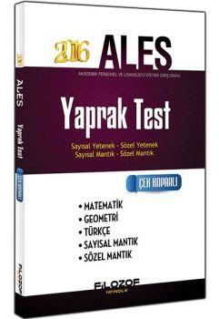 Filozof Yayıncılık ALES 2016 Yaprak Test