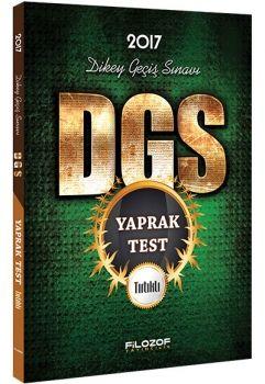 Filozof Yayıncılık DGS 2017 Tırtıklı Yaprak Test