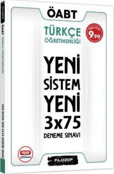 Filozof Yayıncılık ÖABT Türkçe Öğretmenliği Yeni Sistem 3x75 Deneme Sınavı