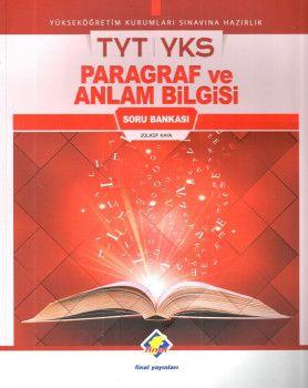 Final Yayınları YKS 1. Oturum TYT Paragraf ve Anlam Bilgisi Soru Bankası