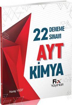 Fix Yayınları AYT Kimya 22li Deneme Sınavı