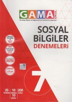 Gama Okul Yayınları 7. Sınıf Sosyal Bilgiler Denemeleri