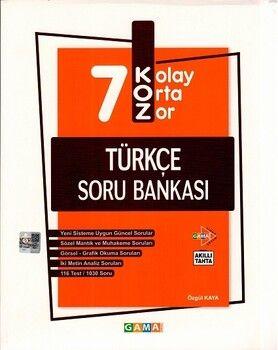 Gama Okul Yayınları 7. Sınıf Türkçe KOZ Tatlı Sert Soru Bankası