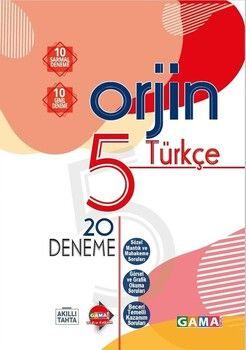 Gama Okul Yayınları 5. Sınıf Türkçe Orjin 20 Deneme
