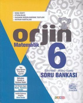 Gama Yayınları 6. Sınıf Orjin Matematik Soru Bankası
