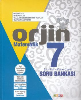 Gama Yayınları 7. Sınıf Orjin Matematik Soru Bankası