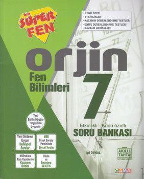 Gama Yayınları 7. Sınıf Orjin Fen Bilimleri Soru Bankası