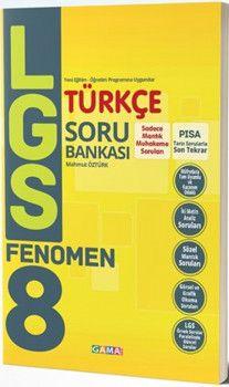 Gama Yayınları 8. Sınıf LGS Türkçe Fenomen Soru Bankası