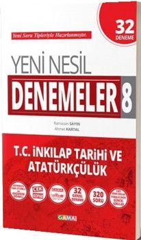 Gama Yayınları 8. Sınıf T.C. İnkılap Tarihi ve Atatürkçülük Yeni Nesil 32 Deneme