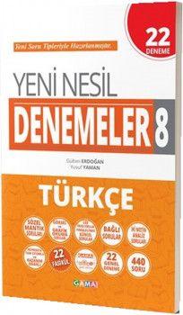 Gama Yayınları 8. Sınıf Türkçe Yeni Nesil 22 Deneme