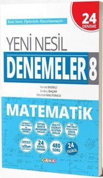 Gama Yayınları 8. Sınıf Matematik Yeni Nesil 24 Deneme