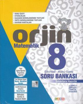 Gama Yayınları 8. Sınıf Orjin Matematik Soru Bankası