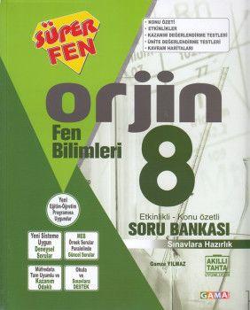 Gama Yayınları 8. Sınıf Orjin Fen Bilimleri Soru Bankası