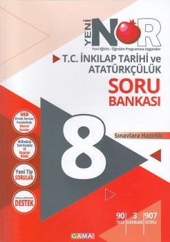 Gama Yayınları 8. Sınıf T.C. İnkılap Tarihi ve Atatürkçülük 3 lü Set Soru Bankası Tekrar Testleri Deneme