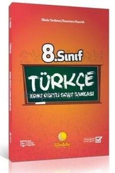 Günay Yayınları 8. Sınıf Türkçe Konu Özetli Soru Bankası