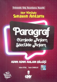 Günay Yayınları Üniversiteye Hazırlık Paragraf Adım Adım Anlam Bilgisi