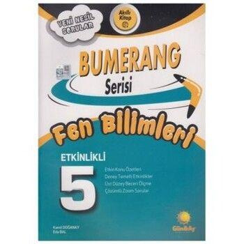 Günay Yayınları 5. Sınıf Fen Bilimleri Etkinlikli Bumerang Serisi