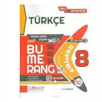 Günay Yayınları  8. Sınıf Türkçe Bumerang  Etkinlikli Akıllı Defter