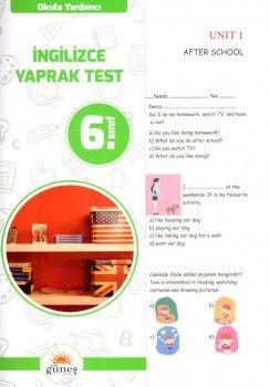 Güneş Yayınları 6. Sınıf İngilizce Yaprak Test