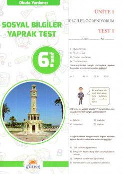Güneş Yayınları 6. Sınıf Sosyal Bilgiler Yaprak Test