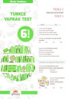 Güneş Yayınları 6. Sınıf Türkçe Yaprak Test