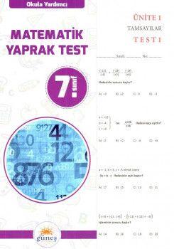 Güneş Yayınları 7. Sınıf Matematik Yaprak Test