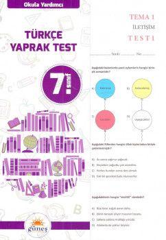 Güneş Yayınları 7. Sınıf Türkçe Yaprak Test