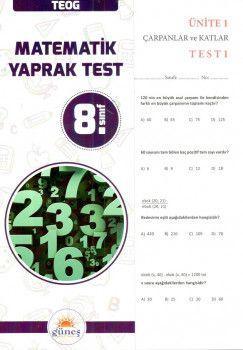 Güneş Yayınları 8. Sınıf Matematik Yaprak Test
