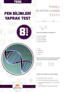 Güneş Yayınları 8. Sınıf Fen Bilimleri Yaprak Test