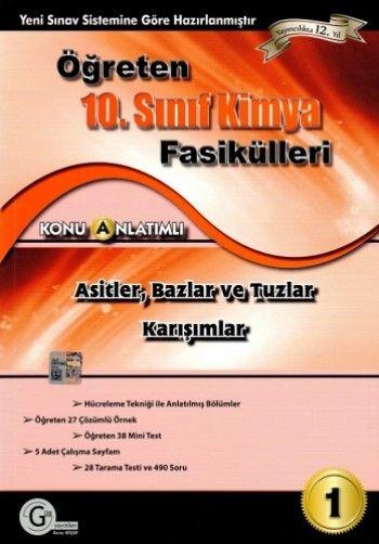 Gür Yayınları 10. Sınıf Kimya Fasikülleri Asitler Bazlar ve Tuzlar Karışımlar