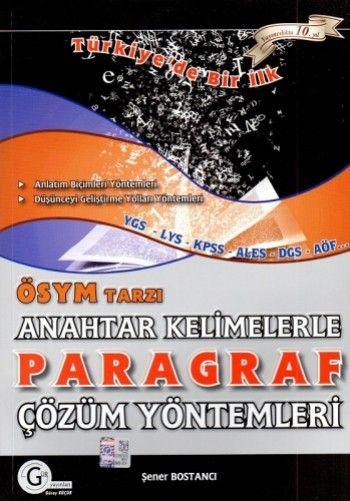 Gür Yayınları ÖSYM Tarzı Anahtar Kelimelerle Paragraf Çözüm Yöntemleri