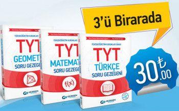 Gezegen Yayıncılık YKS 1. Oturum TYT Matematik Geometri Türkçe Soru Bankası Seti