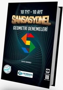 Gezegen Yayıncılık TYT AYT Geometri Sansasyonel 10+10 Deneme