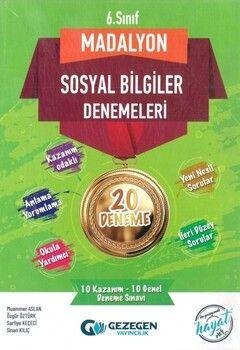 Gezegen Yayınları 6. Sınıf Madalyon 20li Sosyal Bilgiler Denemeleri